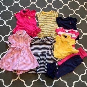 Ralph Lauren baby girl 12M bundle 9 items!